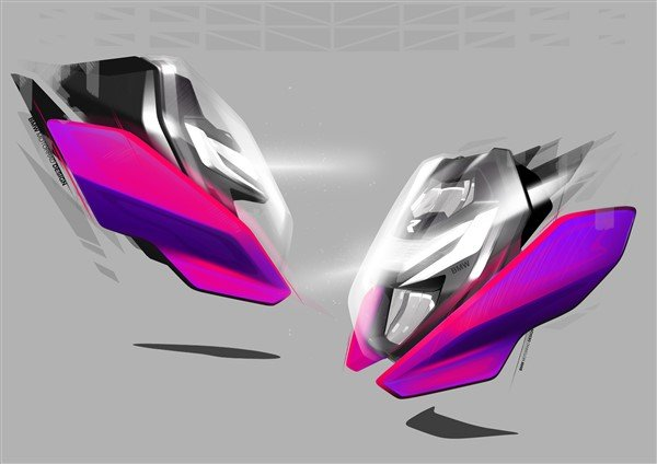 BMW S 1000 R 2021 sketches front light