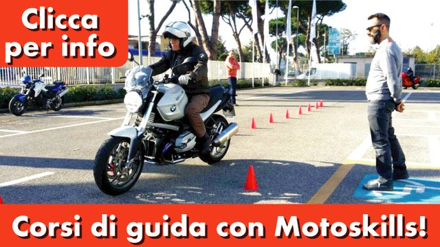 corsi di guida moto di motoskills banner