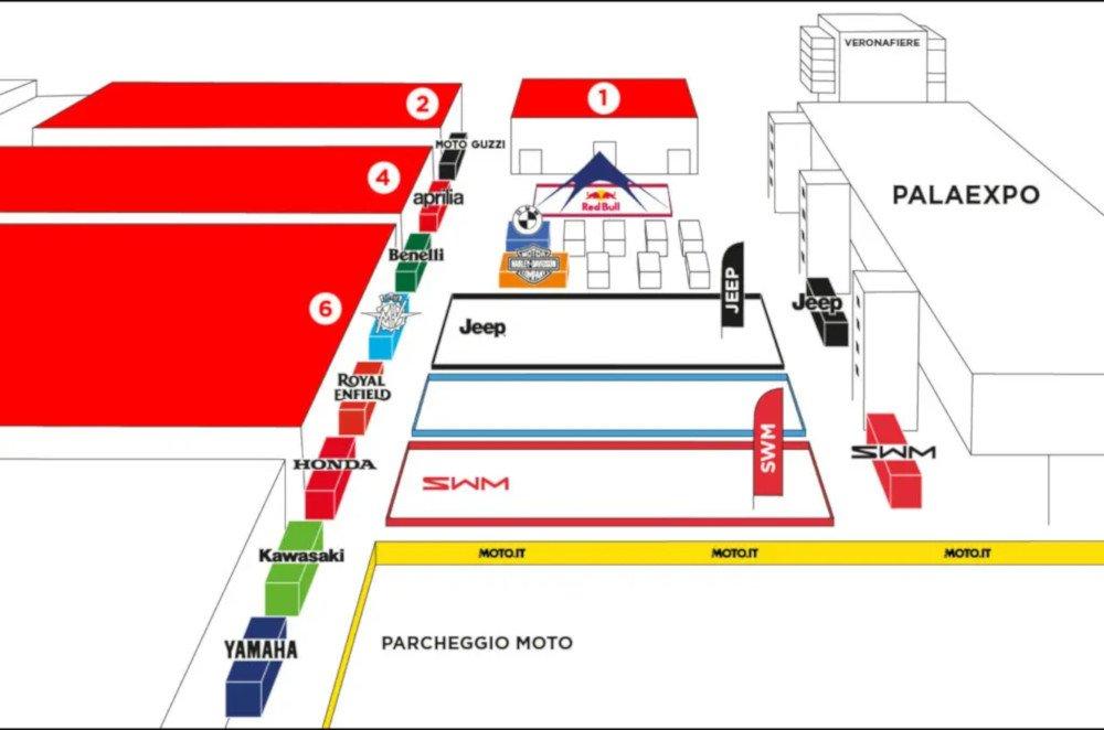 Motor Bike Expo 2021 planimetria