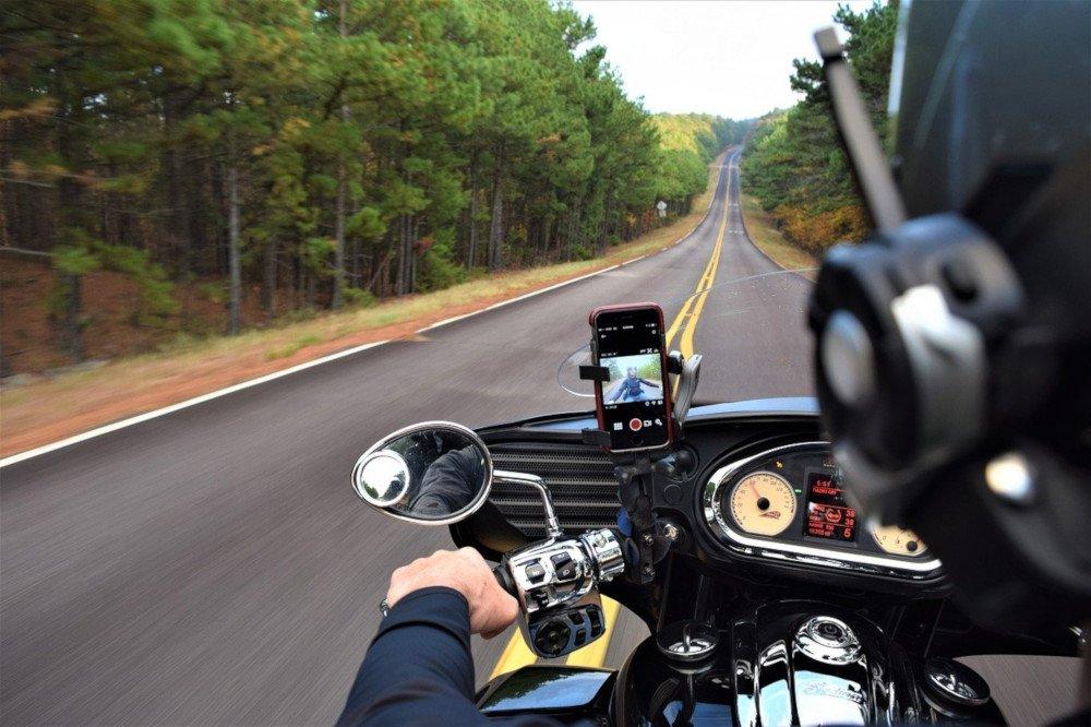 Moto strada action cam