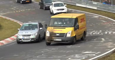 Nurburgring nordschleife furgone DHL