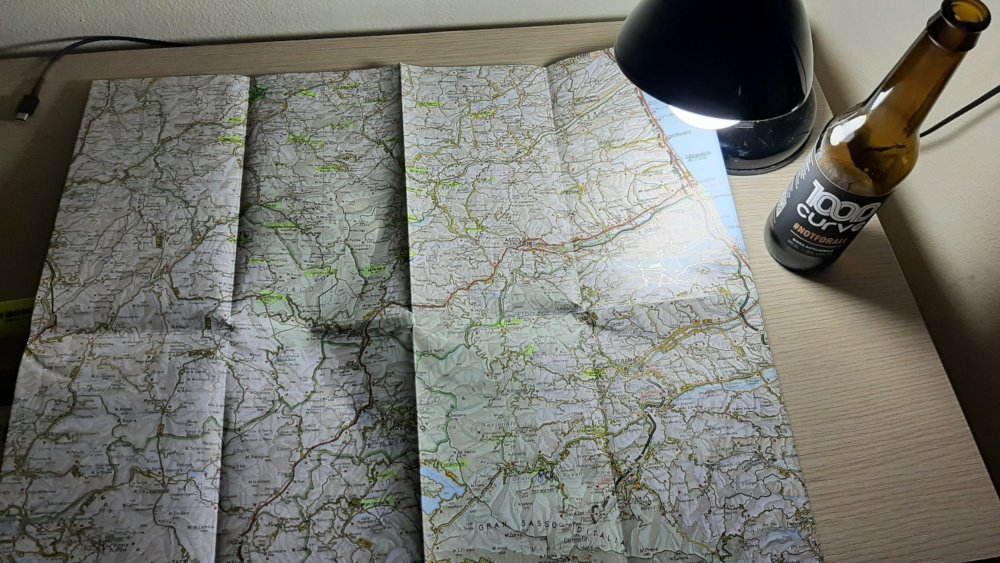 1000 Curve mappa percorso