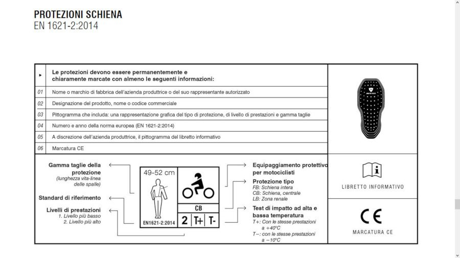 label paraschiena moto
